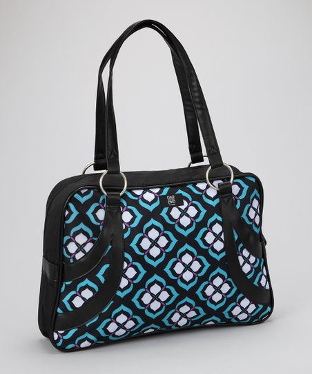 Purple & Blue Chloe Dao Laptop Bag