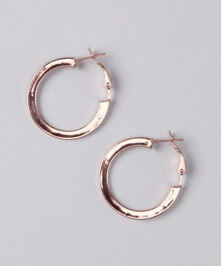 NYLA STAR Rose Gold Joanne Hoop Earrings