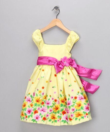 Pastel Yellow Meadow Dress - Infant