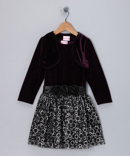 Purple Circle Dress & Bolero - Infant, Toddler & Girls