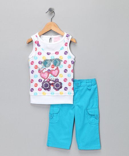 White Polka Dot Tank & Pants - Infant, Toddler & Girls