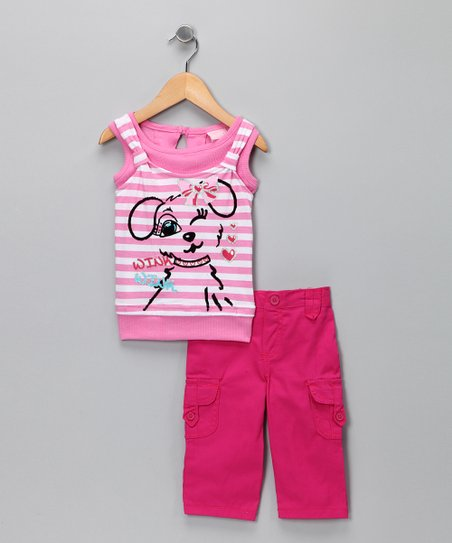 Pink Stripe Tank & Pants - Infant, Toddler & Girls