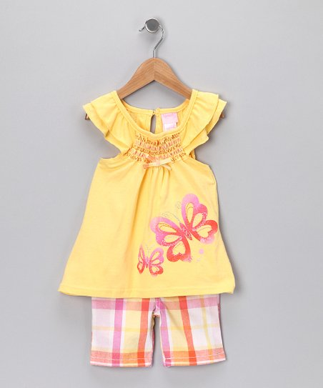 Yellow Butterfly Top &amp; Shorts - Infant