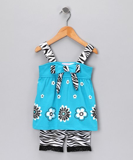 Blue Zebra Tank & Shorts - Toddler