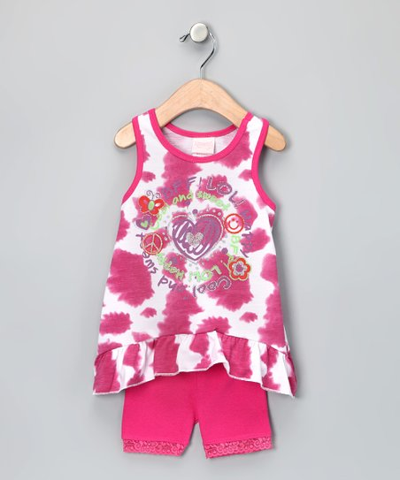 Pink 'Cool and Sweet' Sidetail Tank & Shorts - Infant & Toddler
