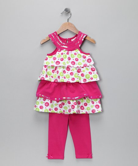 Pink Ruffle Tunic & Leggings - Toddler & Girls