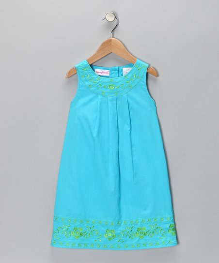 Blue Embroidered Dress - Infant