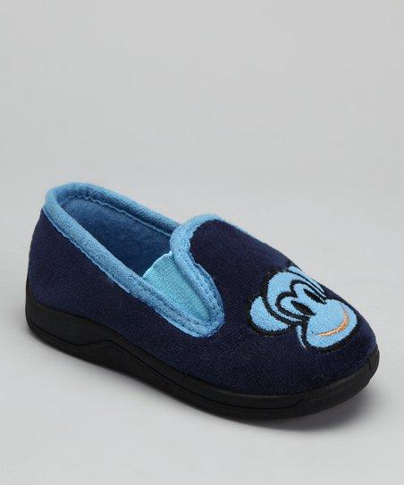 Navy Monkey Slipper