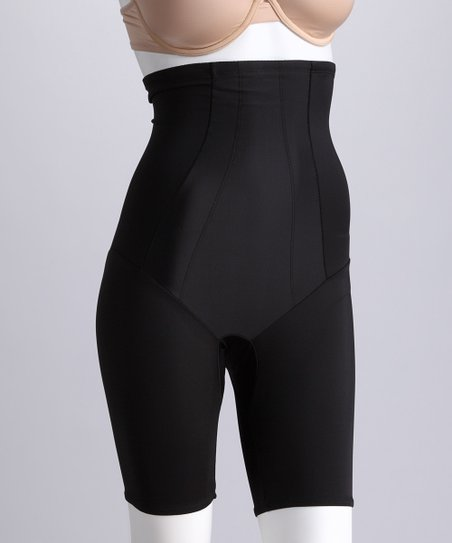 Black High-Waisted Shaper Shorts - Women & Plus