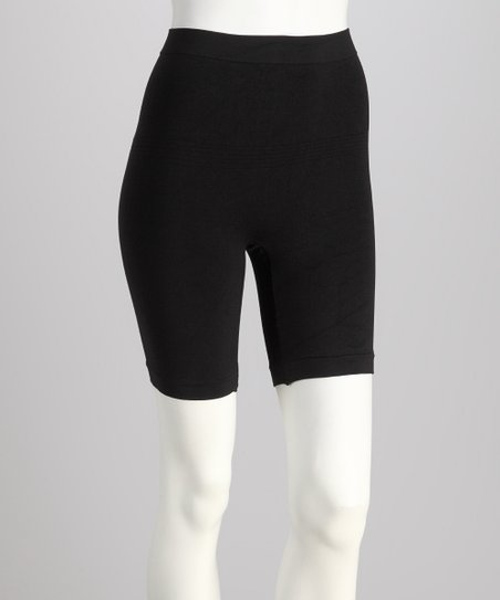 Black Seamless Shaper Bike Shorts - Women