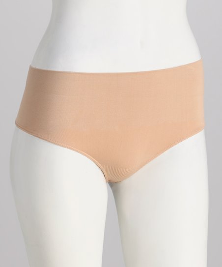 Nude Seamless Low-Rise Control Shaper Thong - Women