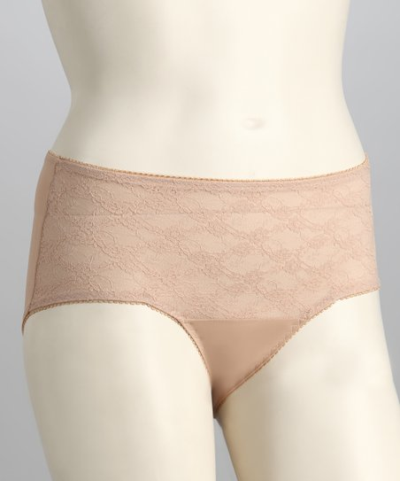 Nude Lace Girdle Briefs - Women & Plus