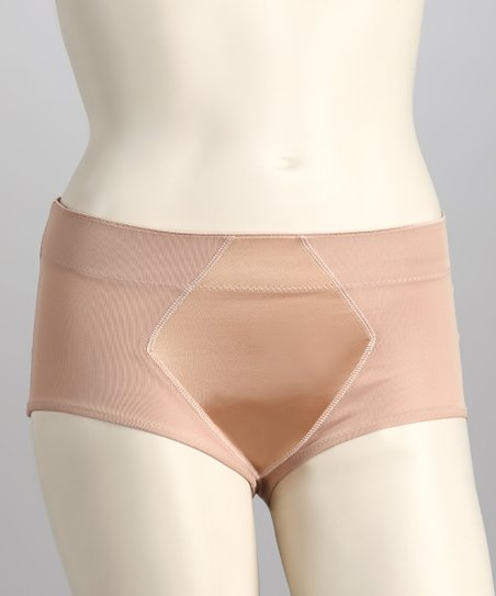 Nude Satin Shaper Briefs - Women & Plus