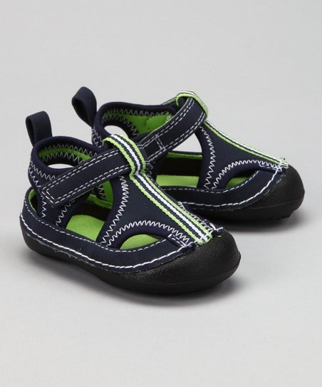 Navy & Lime Collin Closed-Toe Sandal