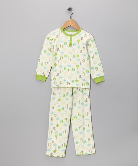 Love Earth Stella Organic Top & Bottoms - Toddler & Girls