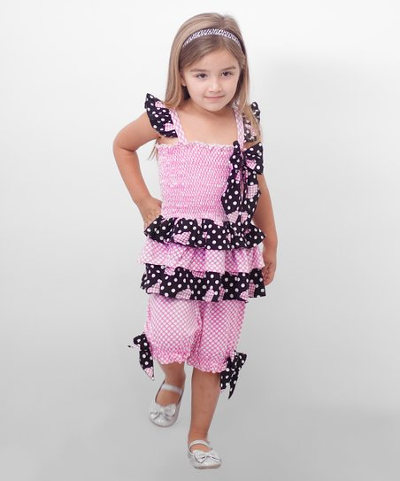 Pink Polka Dot Tunic & Capri Pants - Infant