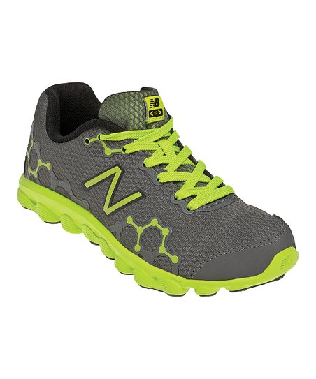 Gray & Neon Green Preschool Minimus Ionix 3090 Running Shoe