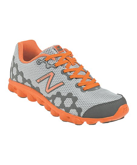 Silver &amp; Orange Grade School Minimus Ionix 3090 Running Shoe