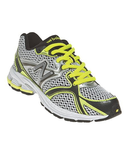 Black & Yellow Grade School KJ880 Running Shoe