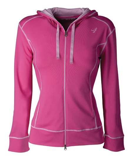 Magenta Stride Hooded Track Jacket