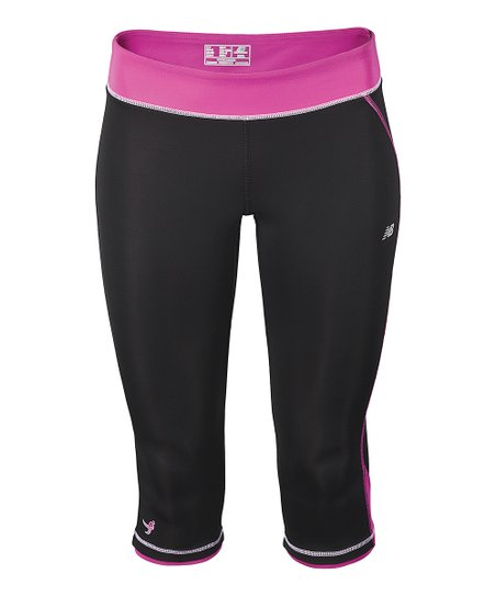 Black Komen Capri Pants