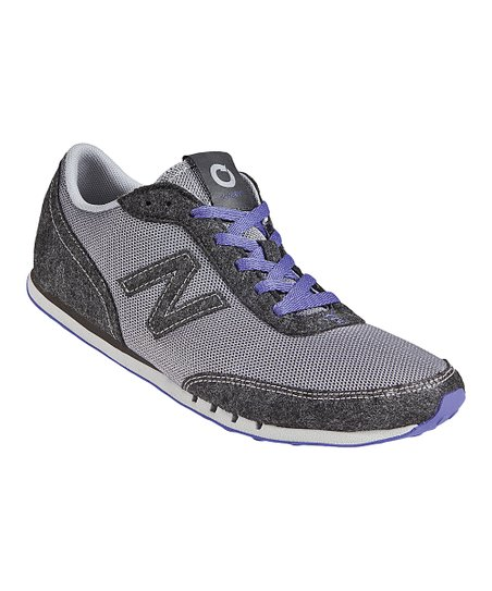 Gray & Purple Running Shoe