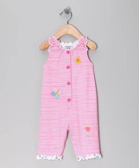 Pink Garden Delight Ruffle Playsuit - Infant