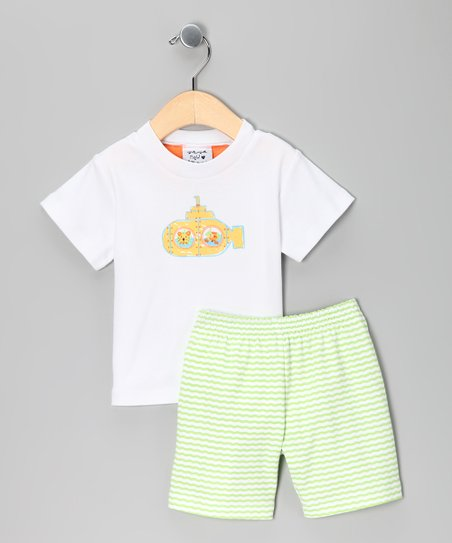 Green Submarine Tee & Shorts - Infant & Toddler