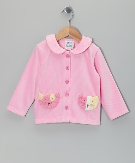 Pink Cat's Meow Cardigan - Infant & Toddler