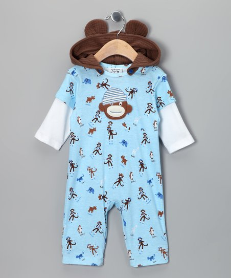 Blue Monkey Business Layered Playsuit - Infant