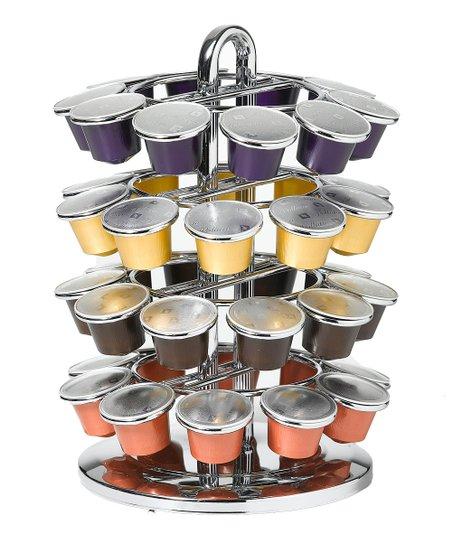Chrome 40-Slot Nespresso Capsule Carousel