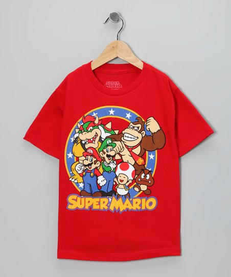 Red 'Super Mario' Tee - Kids