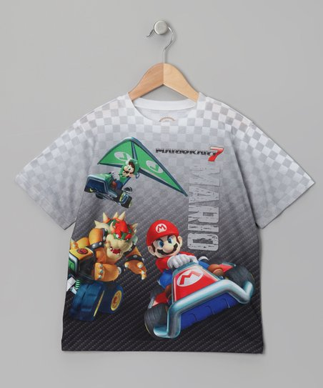 Gray 'Mario' Kart Sublistatic Tee
