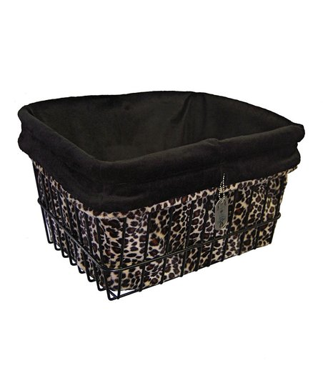 Brown Leopard Basket Liner/Tote Bag