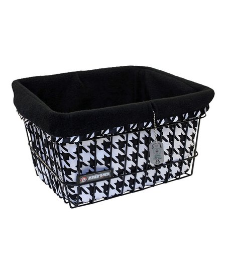 Black & White Houndstooth Basket Liner/Tote Bag