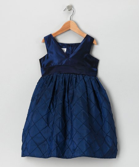 Royal Blue Pin Tuck Dress - Infant, Toddler & Girls