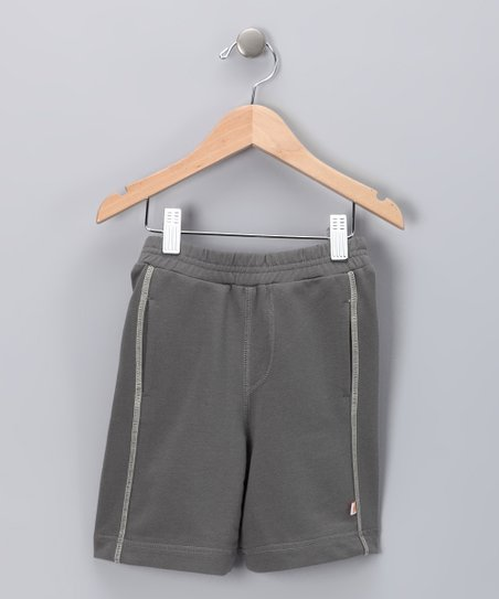 Charcoal Organic Shorts - Infant & Toddler