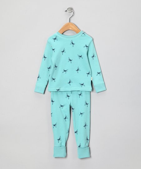 Pale Blue Doggy Organic Pajama Set - Infant & Toddler