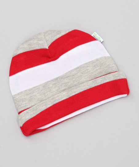 Red Stripe Organic Beanie