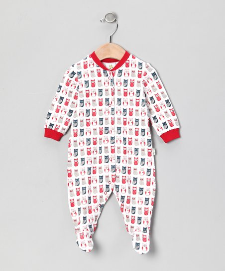Red Owl Organic Footie - Infant