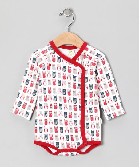 Red Owl Wrap Bodysuit  - Infant