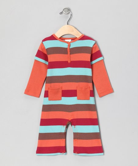 Nosilla Brown Stripe Organic Playsuit - Infant
