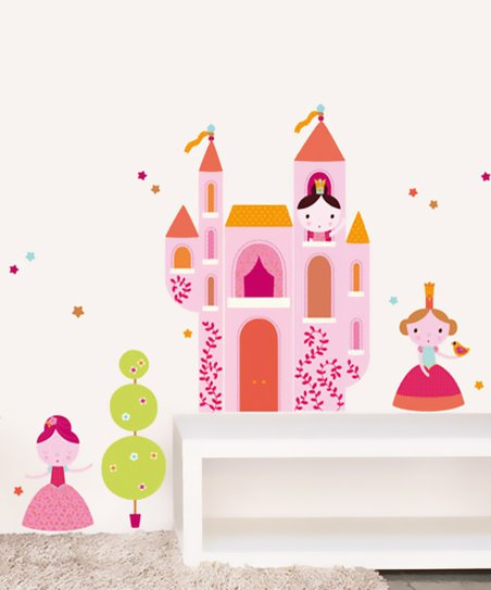 Pink Princess Wall Decal Set