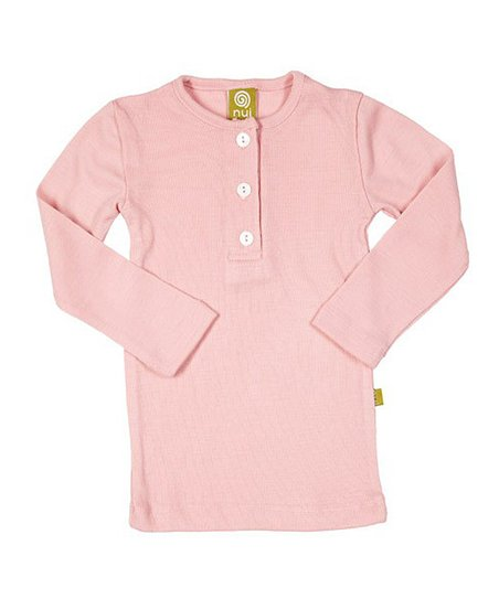 Blush Thermal Merino Organic Henley - Infant &amp; Kids