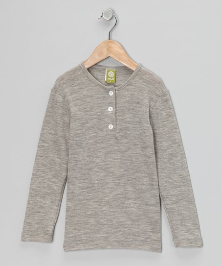 Silver Merino Organic Thermal Henley - Infant