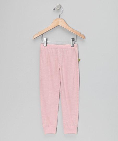 Blush Thermal Rib Merino Organic Leggings - Infant & Kids