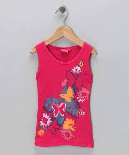Pink Butterfly Garden Tank - Girls