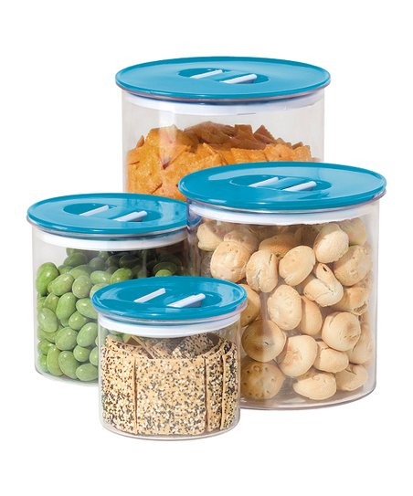 Blue Stack 'n' Store Canister Set