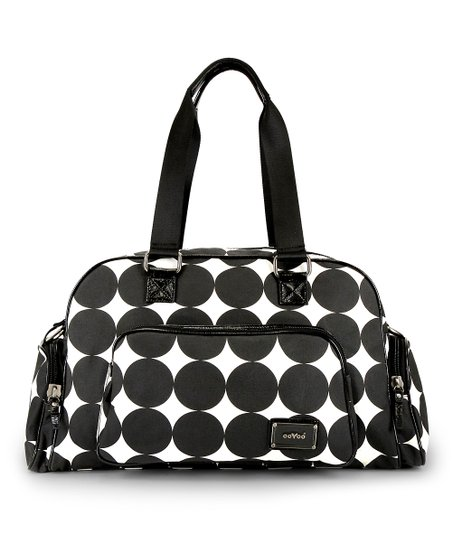 Black Dots Labor of Love Medium Duffel Bag