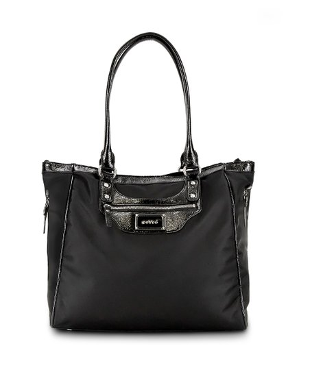 Black Noir Dove Gray Betsy Tall Diaper Bag